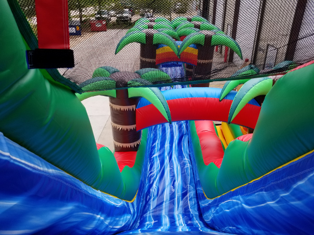 Tropical Fiesta Water Slide with Slip and Slide Top View