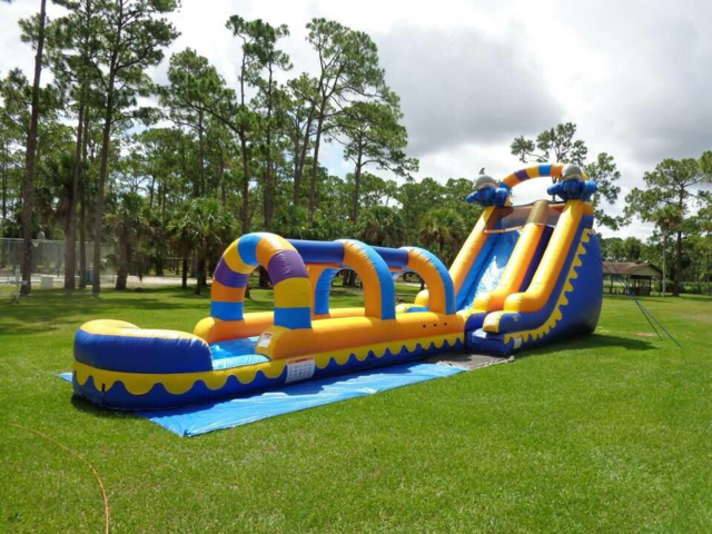 Dolphin Splash Water Slide Slip N Slide 60ft Monster