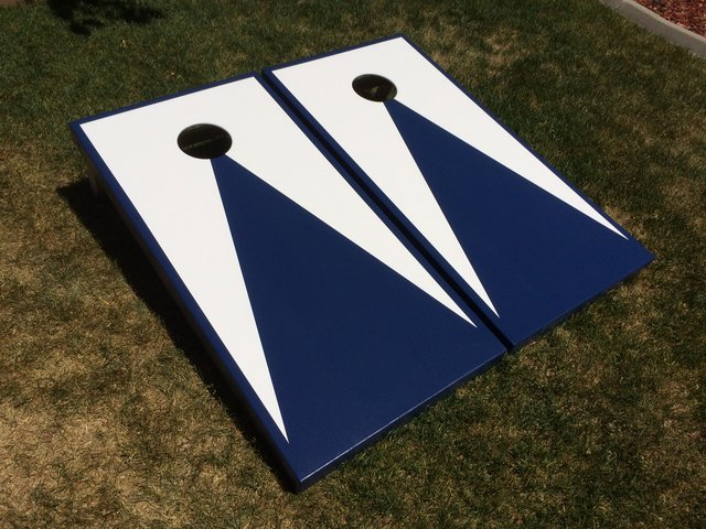 Cornhole White and Blue