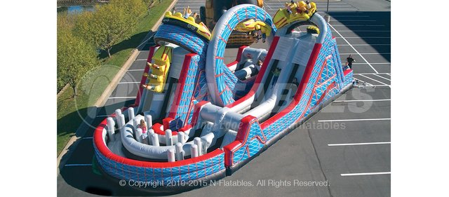Wild Roller Coaster Obstacle Course Rental