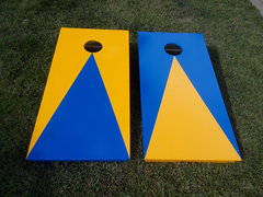 Cornhole Game Blue and Yellow