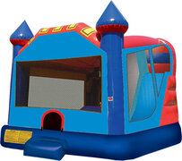 Big Blue Castle Inside Slide Bounce House