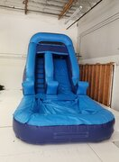 Blue Water Slide With Pool