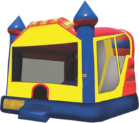 Castle Water Slide Bounce House Combo with a Basketball Hoop