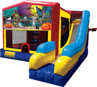 Happy Haunting 25 Bounce House Slide 1000