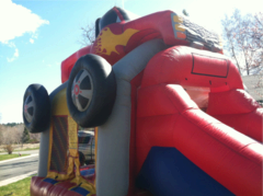 Monster Truck Slide Bounce House Combo