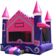Pink and Purple Castle Pop Ups and a Hoop