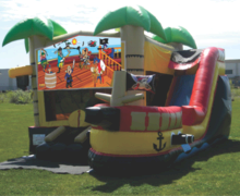 Pirate Ship Water Slide Bounce House Adventure