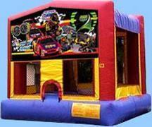 Stock Car Racing Fun House Inside Slide Hoop