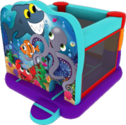 Small Under The Sea Bounce House Slide
