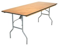 Wooden 8ft Banquet Tables