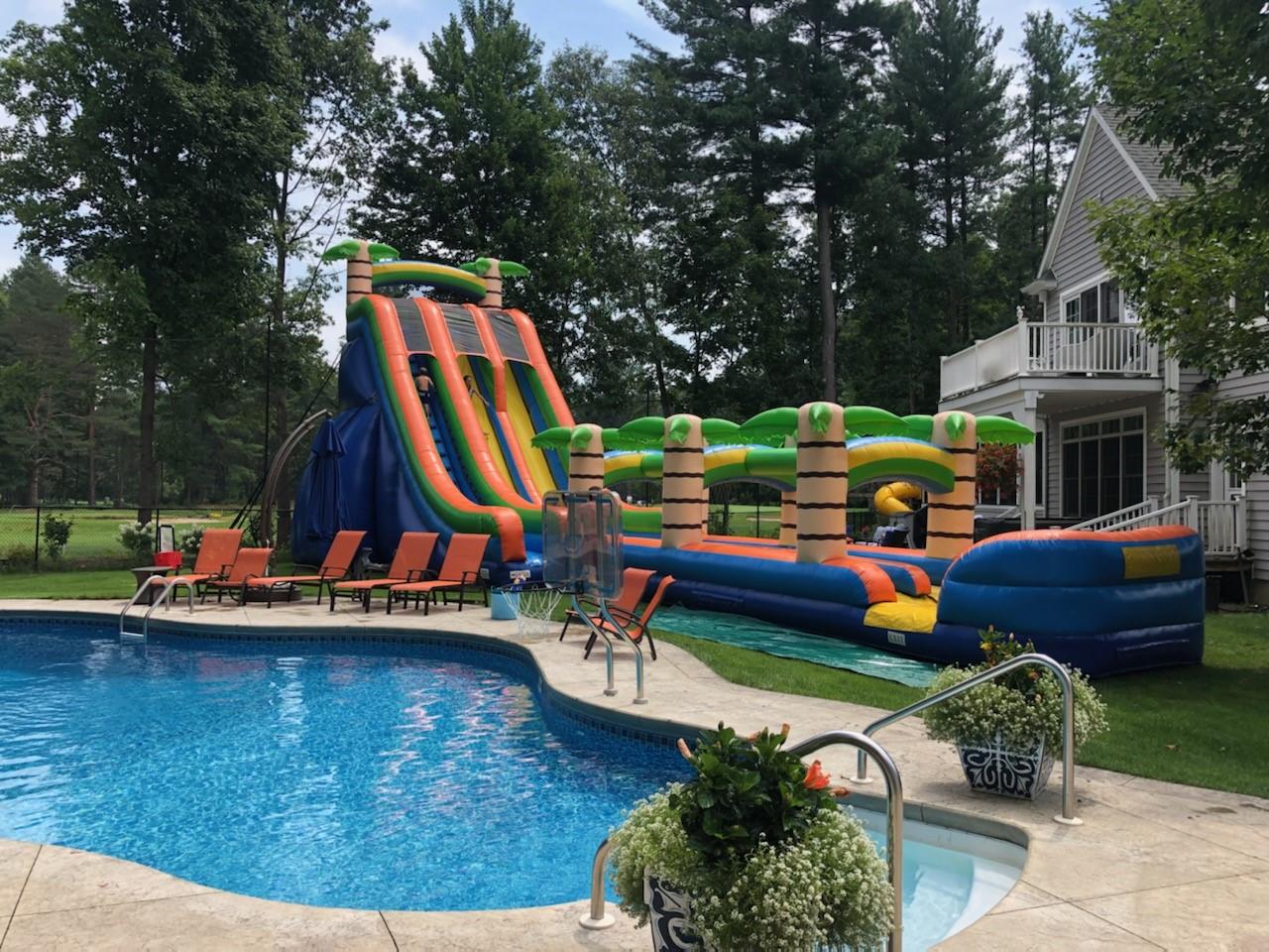 27 foot water slide with slip n slide