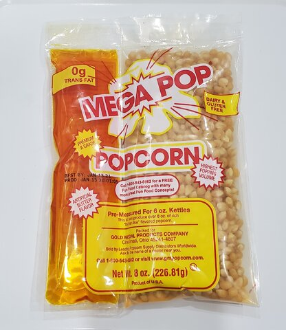 8oz. Popcorn and Oil Pack