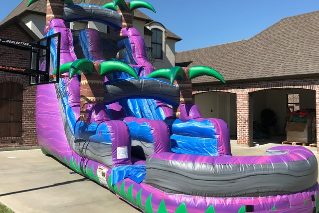 PURPLE RAIN ISLAND 18' WATERSLIDE