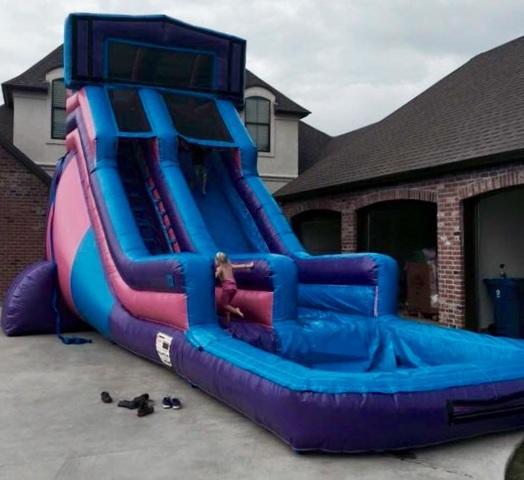PINK & PURPLE 20' WATERSLIDE