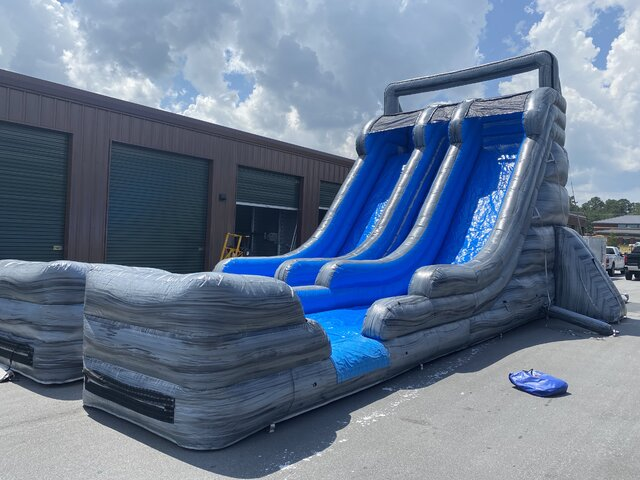 25ft Intimidator Dual Lane Waterslide
