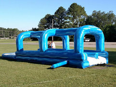 36 Foot Double Slip-n-Slide with Pool