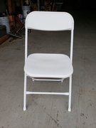 White Vinyl Chair