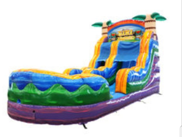 18ft Tiki Tropical slide