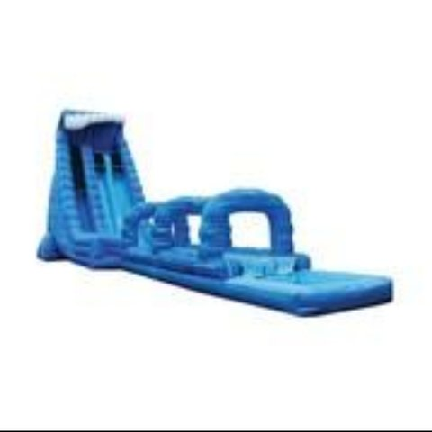 27FT BLUE CRUSH DOUBLE LANE WATER SLIDE!