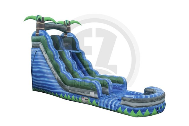 16ft TROPICAL BLUE CRUSH WATERSLIDE!!!