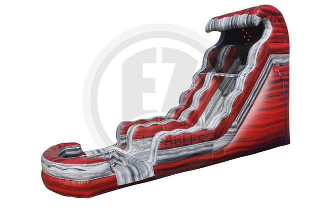 18ft red hot water slide!!!