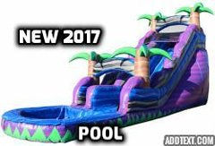20ft purple crush water slide!