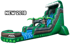 NEW FOR 2018!!! 20FT EMERALD CRUSH WATER SLIDE!
