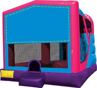 Sports 4in1 pink and purple combo bounce house