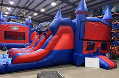 Who Dat Double lane combo with bounce house