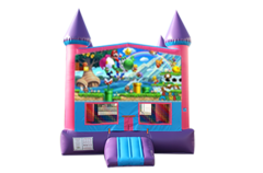 Super Mario pink and purple bounce house