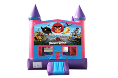 Angry Birds pink and purple bounce house