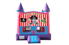 Pirates pink and purple bounce house