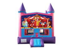 Circus pink and purple bounce house