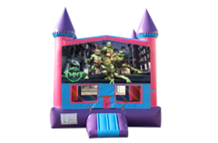 Ninja Turtles pink and purple bounce house