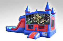 Ninja Turtles Double lane combo with bounce house