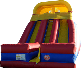 18 ft double dry slide