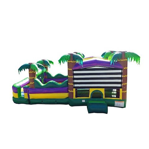 30 Ft Palm Beach Obstacle Bounce House side