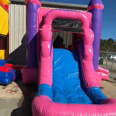 Slide from Pink Combo bounce house