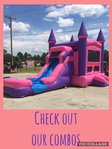 Pink Wave Combo Biloxi Bounce House