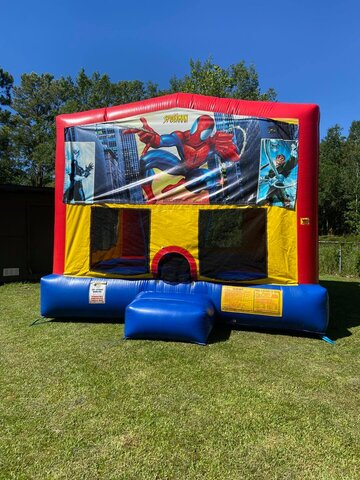spiderman bounce house