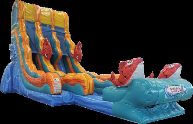 22 ft Double Kahuna Water Slide