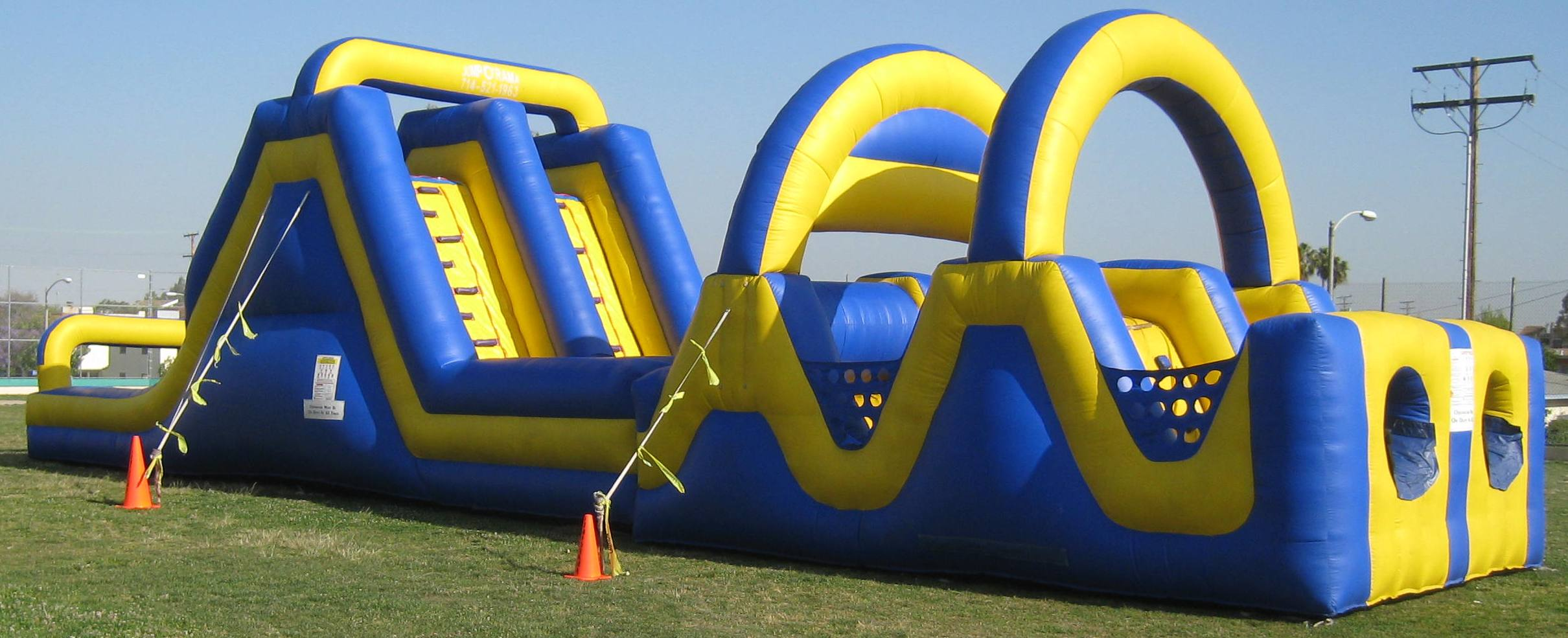 60 Ft Obstacle course from biloxi bounce house