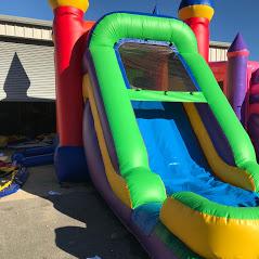Bounce House with slide combo biloxi bounce house