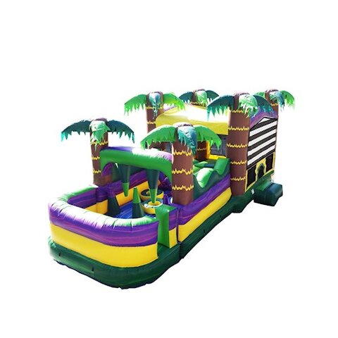 30 Ft Palm Beach Obstacle Bounce House