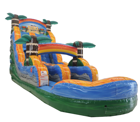 18 FT TIKI PLUNGE W/ POOL WATER SLIDE