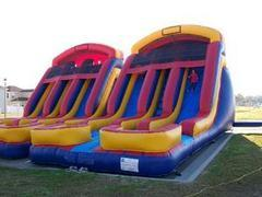 18 FT Double Lane Water Slide (101)Best for ages 5+Size 30' L x 20' W x 20' H