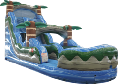 18 FT BLUE HURRICANE WATER SLIDE Best for ages 6+Size 32'L X 11'W X 18'H  *NEW AUGUST 2020*