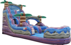 18 FT PURPLE HURRICANE WATER SLIDE Best for ages 6+Size 32'L X 11'W X 18'H  *NEW AUGUST 2020*