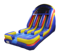 18 Ft Double Lane Dry Slide (2020 MODEL)Best for ages 5+Size 30'L x 18'W x 18'H*NEW OCTOBER 2020*